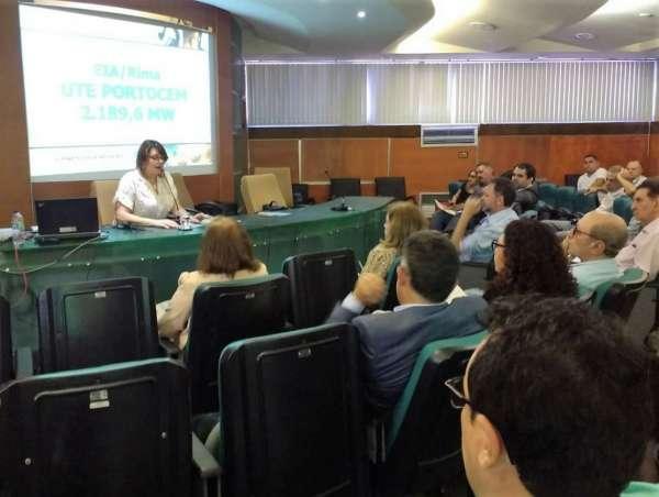 Reunião do Coema com apresentação do projeto da usina Portocem