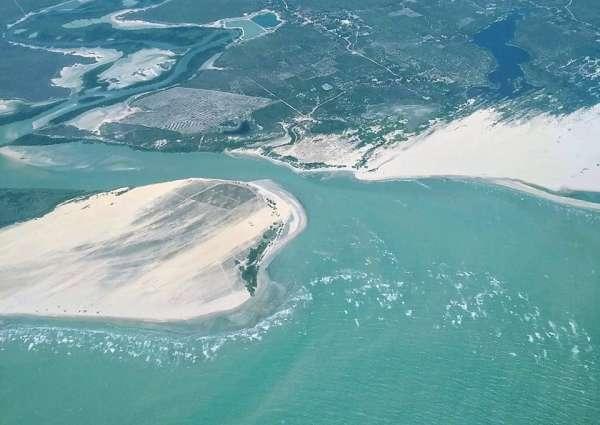 Vista aérea do litoral do Ceará